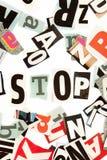 Stop inscription Stock Photo