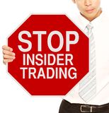 Stop Insider Trading Stock Images
