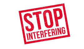 Stop Interfering rubber stamp Stock Photo