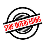 Stop Interfering rubber stamp Royalty Free Stock Image