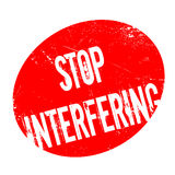 Stop Interfering rubber stamp Royalty Free Stock Photography