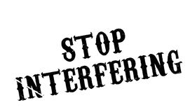 Stop Interfering rubber stamp Royalty Free Stock Photo