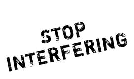 Stop Interfering rubber stamp Royalty Free Stock Photos