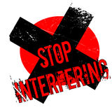 Stop Interfering rubber stamp Stock Photos