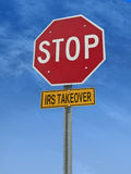 Stop irs takeover post sign Royalty Free Stock Image