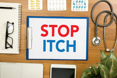 STOP ITCH Stock Photo