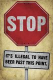 Stop Its Illegal beer sign with background Stock Photography