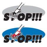 STOP! - jam on the brakes. Stock Photo
