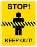 Stop, keep out - sign Stock Photo