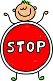 Stop kid Royalty Free Stock Photography