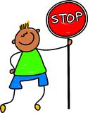 Stop kid Royalty Free Stock Photo