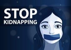 Stop kidnapping royalty free illustration