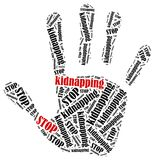 Stop kidnapping. Stock Images