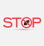 Stop and Kill Lice Insects. Vector Illustration Stock Photo
