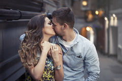 Stop and kiss Royalty Free Stock Images