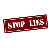Stop lies. Rubber stamp with text stop lies inside, vector illustration Royalty Free Stock Photo
