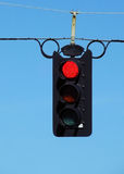 Stop light. This is a stop light with the blue sky in the background Royalty Free Stock Image