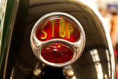 Stop light. On a vintage car Stock Image