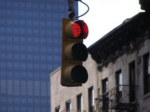 Stop Light. Stoplight in New York City royalty free stock photography