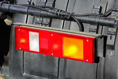 Stop light of big truck. Royalty Free Stock Images