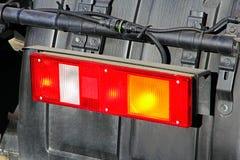 Stop light of big truck. Stop light of big truck taken closeup Royalty Free Stock Images