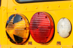 Stop Lights On School Bus Stock Photography