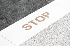 Stop line Royalty Free Stock Image