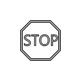 Stop line icon, Traffic regulatory sign. Stop line icon, Traffic regulatory and warning stop sign, vector graphics, a linear pattern on a white background, eps Royalty Free Stock Photos