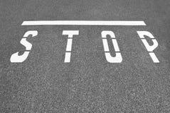 Stop Line Stock Photo