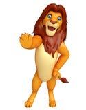 Stop Lion cartoon character Royalty Free Stock Photo