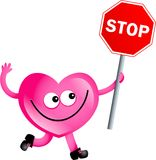 Stop love vector illustration