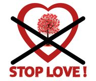 Stop love sign Royalty Free Stock Photos