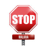 Stop malaria sign illustration design Royalty Free Stock Photo