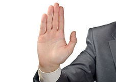 Stop. Male hand Royalty Free Stock Image