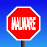 Stop Malware sign royalty free illustration