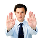 Stop man business Stock Photography