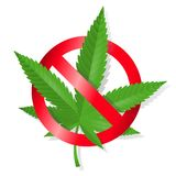Stop marijuana sign Stock Photography