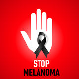 Stop Melanoma sign Stock Photo