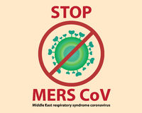 Stop Mers Cov Virus Background Stock Photography
