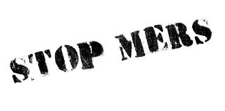 Stop Mers rubber stamp Royalty Free Stock Photography