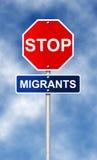 Stop. Migrants Stock Photo