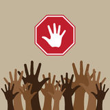 Stop migration illustration Royalty Free Stock Photos