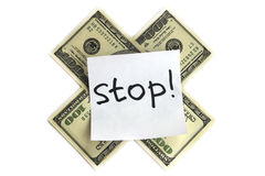 Stop money Stock Photo