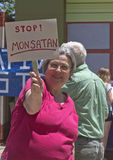 STOP MONSATAN Anti GMO Sign Stock Photo