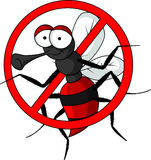 Stop mosquito cartoon Stock Images