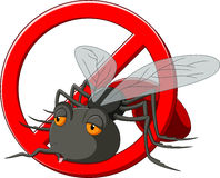 Stop mosquito cartoon Royalty Free Stock Photography