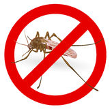 Stop mosquito sign. Illustration on white background Royalty Free Stock Photo