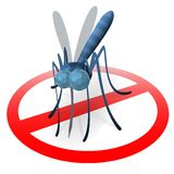Stop mosquito sign. Protect a surface where mosquito has landed Royalty Free Stock Image