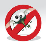 Stop mosquito sign. Mosquito repellent vector , stop mosquito sign , no mosquito. Vector illustration Royalty Free Stock Image