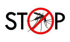 Stop mosquito sign stock illustration